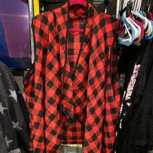 Red Buffalo Check Plaid Plus Size Vest